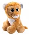 Knuffel leeuw met glitter ogen 40 cm